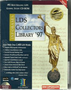 I love being LDS -  Infobase LDS Collectors Library '97 CD-ROM. [Mormon]. 2 CDs/booklet in box. / http://www.mormonproducts.net/infobase-lds-collectors-library-97-cd-rom-mormon-2-cdsbooklet-in-box-2/