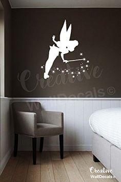 Vinyl Wall Decal Sticker Peter Pan Tinkerbell Fairy Kids…