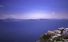 Greece Photography by Maxim G Photography Greece Photography, White Houses, Cliff, Santorini, Europe, Sky, Mountains, Pictures, Blue