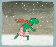 seizoenen, winter kikker Max Velthuijs
