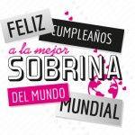 Felicitaciones de cumpleaños para sobrina