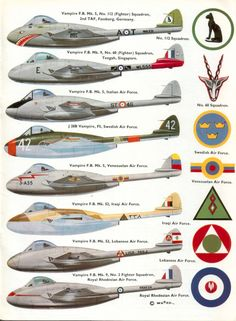 More About the SAAF De Havilland Vampires Vampire variants (SAAF planes in bold) Links to other sites and pages in blue Pro. Air Force Aircraft, Navy Aircraft, Fighter Aircraft, Fighter Jets, Military Jets, Military Aircraft, De Havilland Vampire, Swedish Air Force, Swiss Air