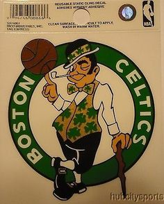 Boston Celtics Logo Static Cling Sticker NEW!! Window or Car! NBA c300c2780