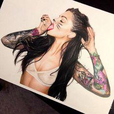 Tattoo girl www.tattoodefender.com   #tattoo #tattooidea #tatuaggi #tatuaggio #ink #inked #chick #tattooideas #girl #pinterest #inkedchick #tattoogirl #tattooed #ragazza #tattoodefender
