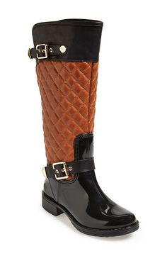 Crazy in love with these quilted rain boots! <3 | Nordstrom