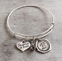 Daughter Of The Groom Step Silver Bracelet Charm From Wedding Jewelry Keepsake Gifts