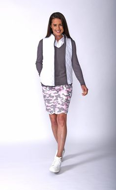 28a9d35c454 Women Golf Clothing - Golftini Womens Incognito Camouflage Stretch Cotton Skort  Comes in 2 Lengths Women s