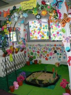The Secret Garden Role Play Area.jpg I want this for my kids to play in or to read in! School Displays, Classroom Displays, Classroom Decor, Reading Garden Classroom, Play Corner, Corner House, Dramatic Play Area, Dramatic Play Centers, Preschool Classroom