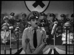 """Charlie Chaplin als """"Der große Diktator"""" (Hitler-Parodie)"""