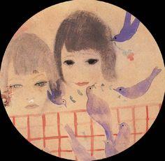 """Marie Laurencin """"Two children with birds"""""""