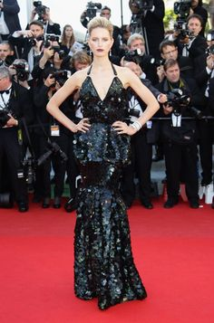 Pin for Later: 52 Cannes Gowns So Stunning, You'll Have to Remind Yourself to Breathe  Karolina Kurkova wore a Roberto Cavalli gown to the 2012 Cannes premiere of Killing Them Softly.