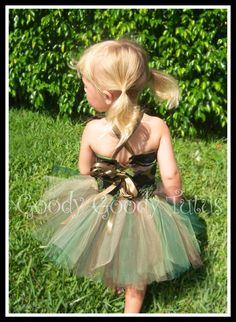 CAMO CUTIE Camoflauge Tutu and Reversible by goodygoodytutus, $65.00