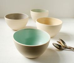 Stoneware Bowl Set by SuiteOneStudio on Etsy