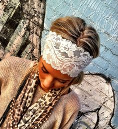 Wide Lace All Lace Stretchy Headbands  Wholesale by ThreeBirdNest, $144.00