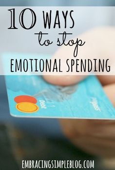 Do you use shopping as a pick-me-up when you are feeling down in the dumps? Here are 10 Ways to Stop Emotional Spending right now! #debt Pay Off Debt, how to pay off debt