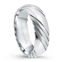 Elegant White Gold Men's Wedding Band - Our Price: $969.99 -