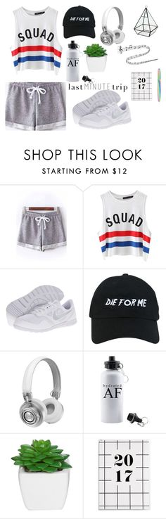 """be strong!"" by enge-abdrashitova on Polyvore featuring мода, Chicnova Fashion, NIKE, Nasaseasons и Master & Dynamic"