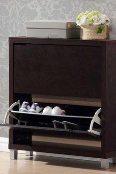 HauteLook | W.I. Modern Furniture: Simms Modern 2 Drawer Shoe Cabinet - Cappuccino