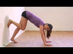 Watch: learn how to build up your strength and master a handstand. | via Fabletics Youtube