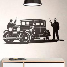 Vinilos Decorativos: Gangsters de Al Capone y Cadillac #vinilo #ganster #TeleAdhesivo