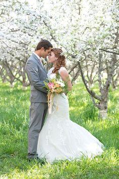 58 Romantic Blooming Orchard Wedding Ideas | HappyWedd.com