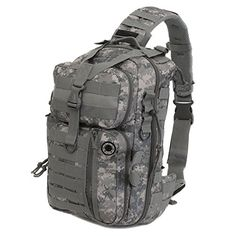 Mens DM ACU Camo Tactical Gear Molle Hydration Ready Sling Shoulder Backpack Daypack Bag * You can find out more details at the link of the image.