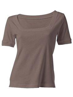 BEST CONNECTIONS Carré-Shirt dunkelbraun