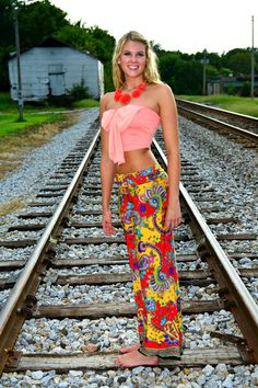 Bright Paisley Yoga Pants