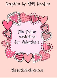 File Folder Activities for Valentine's {12 file folder activities to work on a variety of skills!}