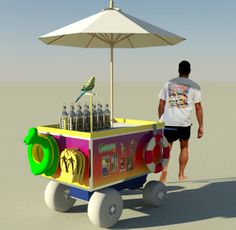 The Carriage Works: Quality Crafted Carts│Kiosks│RMUs // Beach Cart with balloon tires is a perfect was to serve beverages to guests on the beach. Coffee Food Truck, Beach Cart, Kiosk Design, Beach Meals, Summer Feeling, Baby Strollers, It Works, Balloons, Food Carts
