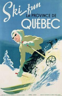 Ski Fun Quebec ski poster