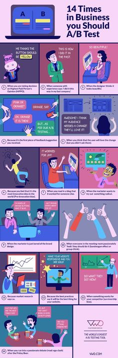 Don't Screw Up Your Website! 14 Examples of When You Should AB Test: #Infographic #WebDesign