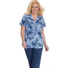 Vanity Fair Blue Floral Pajama Set $22.80
