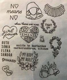 Risultato immagini per feminist tattoo Mini Tattoos, Love Tattoos, Body Art Tattoos, New Tattoos, Small Tattoos, Flash Tattoos, Lotusblume Tattoo, Piercing Tattoo, Tattoo Drawings