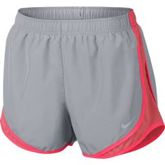 Nike Women's Nike Dry Tempo Running Short (Wolf Gray/Racer Pink, Size Medium) - Women's Athletic Apparel, Women's Athletic Performance Bottoms at A. Nike Running Shorts, Gym Shorts Womens, Nike Shorts, Athletic Shorts, Athletic Clothes, Athletic Wear, Nike Sb, Cute Nike Outfits, Cheer Outfits