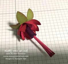 Click here to see how to make hanging fushia flowers from paper… #stampyourartout #stampinup - Stampin' Up!® - Stamp Your Art Out! www.stampyourartout.com