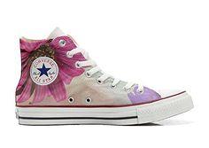 Converse All Star Hi Customized personalisierte Schuhe (Handwerk Schuhe) Spring Fantasy TG46 - Sneakers für frauen (*Partner-Link)