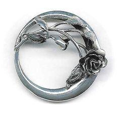 ~Fighting evil by moonlight~ Rose Circle brooch Danecraft