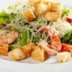Caesar salad with shrimp