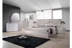 Bedroom Sets: Modern & Contemporary Bedroom Furniture Sets Contemporary Bedroom Furniture Sets, Luxury Bedroom Furniture, Modern Master Bedroom, Modern Furniture, Bedroom Decor, Master Bathroom, Queen Size Platform Bed, Platform Bedroom, Platform Beds