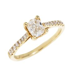 Justice Masterwork Diamond Yellow Gold Chapel Engagement Ring #justicejewelers