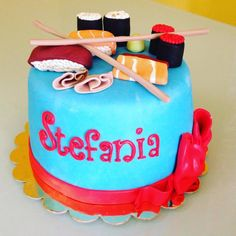 Sushi cake fondant - happy birthday Stefania!!!