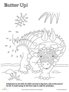 Dino Dot to Dot Carcharodontosaurus