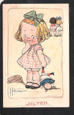 Young Girl Jilted artist drawn by G.G. by EDWARDIANTHYMES on Etsy, $6.20