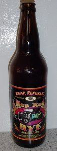 Bear Republic Brewing Co. California, United States American IPA |  8.00% ABV A high gravity IPA brewed with 18% rye malt. Hop Rod Rye has a floral hop aroma and subtle caramel notes with a slightly earthy and spicy rye character.  2009 California State Fair – GOLD 2003 California State Fair – GOLD 2002 Real Ale Festival (Chicago) – GOLD  I'm a big fan of rye in beers - this is a great one!