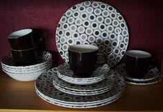 CROWN LYNN DINNER SET - NOVA Vintage Crockery, Dinner Sets, Kiwi, Dinnerware, Kitchen Dining, 1970s, Nova, Objects, Porcelain
