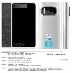 Nokia Lumia 1000 Concept with Intel CPU, QWERTY keyboard and Windows Phone 8
