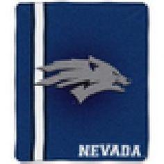 Nevada Wolfpack Jersey 50x60 Raschel Throw Blanket