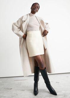 Wool Pile Mini Skirt - Cream - Mini skirts - & Other Stories GB