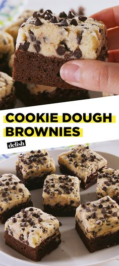 Cookie Dough Brownies are so hot, it's NSFW. Get the recipe at Delish.com. #recipe #easyrecipe #easy #dessert #chocolate #brownies #baking #cookiedough #cookie #dessertrecipes